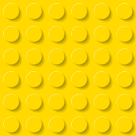 Abstract plastic construction kit background in yellow.