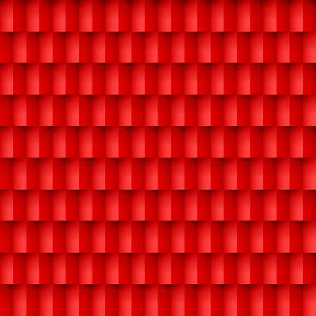 Abstract red brick background. Pattern in geometric style.  Ilustração