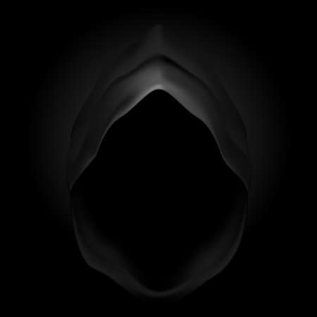Black hood as image of death. Grim Reaper. Vector