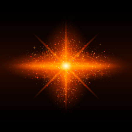 bursting: Orange glowing galaxy with bright flare in centre on black background.