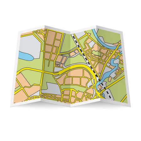 handout: Illustration of folded booklet on white background Illustration