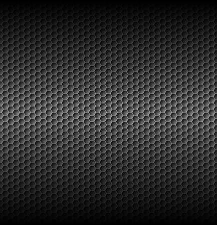 Zwarte carbon met horizontale licht in center Stock Illustratie