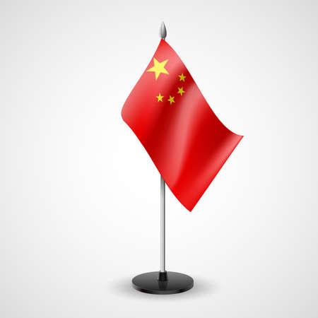 business meeting asian: �tat drapeau de table de la Chine. Symbole national