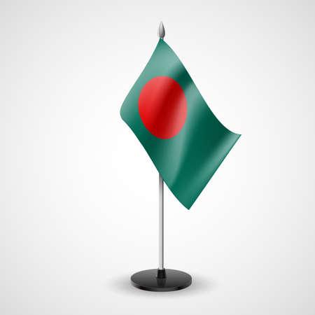 business meeting asian: �tat drapeau de table du Bangladesh. Symbole national Illustration