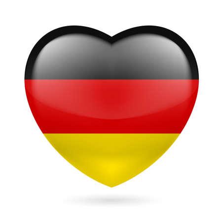 bandera alemania: Coraz�n con colores de la bandera de Alemania