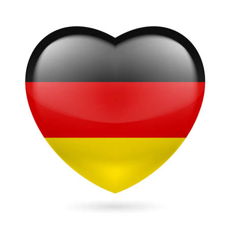 Heart with Germany flag colors Vector