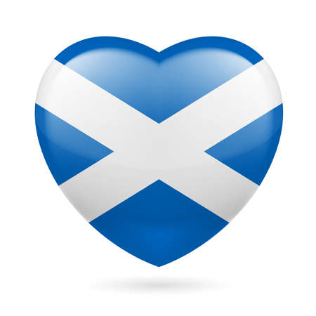 Heart with Scotland flag colors Vector