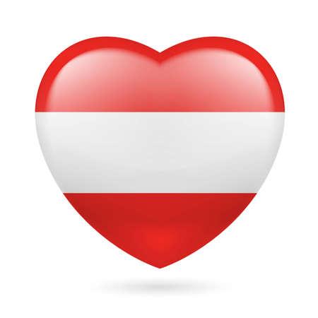 austrian flag: Heart with Austrian flag colors. I love Austria