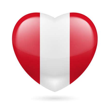 bandera de peru: Corazón con colores de la bandera de Perú