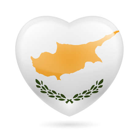 Heart with Cypriot flag colors. I love Cyprus