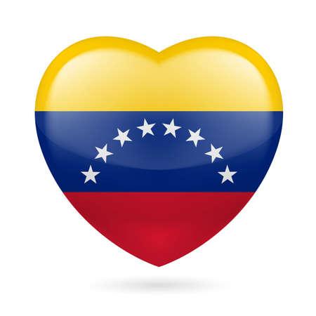 venezuelan: Coraz�n con colores de la bandera venezolana. Me encanta Venezuela