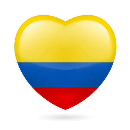 proud: Heart with Colombian flag colors. I love Colombia
