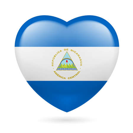 nicaraguan: Heart with Nicaraguan flag colors. I love Nicaragua