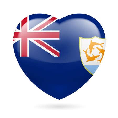 anguilla: I love Anguilla. Heart with flag design
