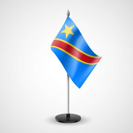 republic of the congo: State table flag of Democratic Republic of the Congo. National symbol