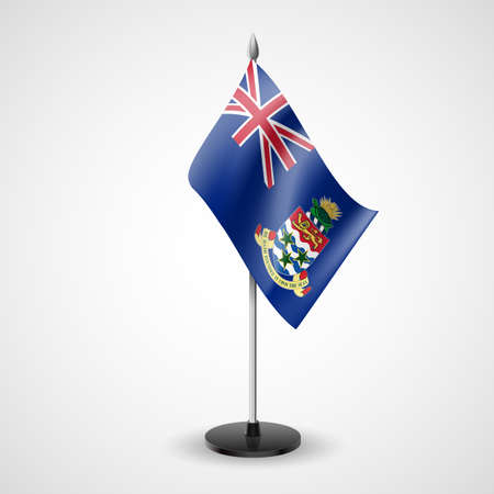 cayman: State table flag of Cayman Islands. National symbol