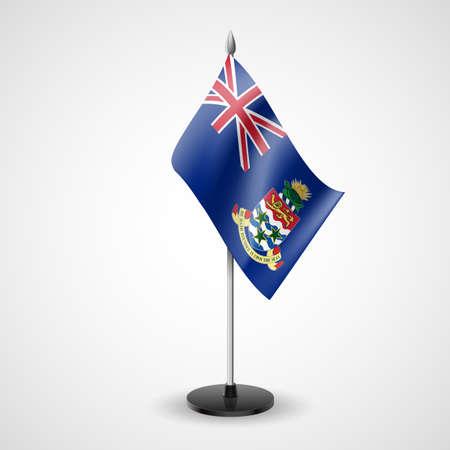 cayman: �tat drapeau de table de �les Ca�mans. Symbole national