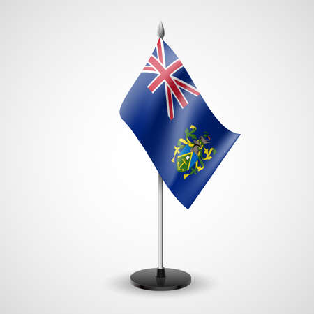 pitcairn: State table flag of Pitcairn Islands. National symbol
