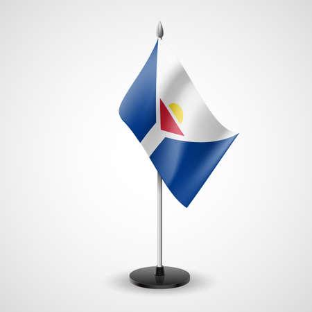 martin: Stół bandery Saint Martin. Symbolu krajowego