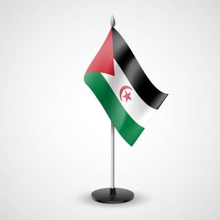 sahrawi arab democratic republic: State table flag of Sahrawi Arab Democratic Republic. National symbol