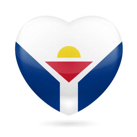 martin: I love Saint Martin. Heart with unofficial flag design