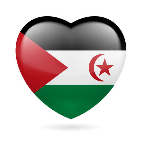 sahrawi arab democratic republic: I love Sahrawi Arab Democratic Republic. Heart with flag design  Illustration