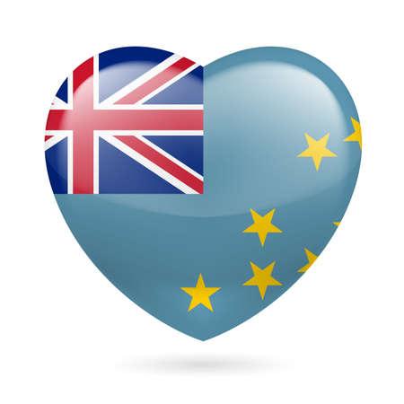 tuvalu: I love Tuvalu. Heart with flag design