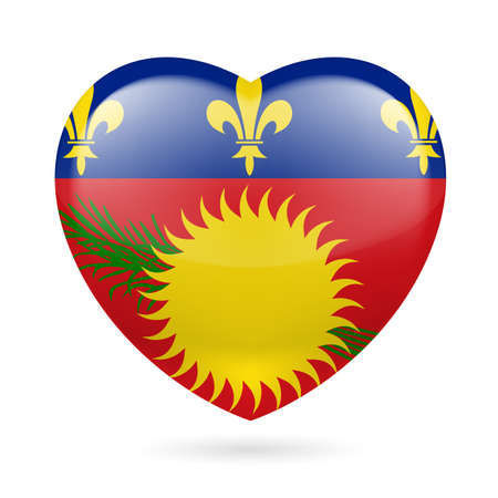 guadeloupe: I love Guadeloupe. Heart with flag design