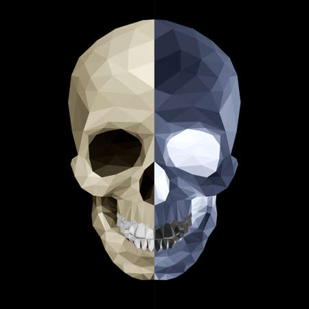 Crystal skull on black background in two color variations Stock Vector - 27172534