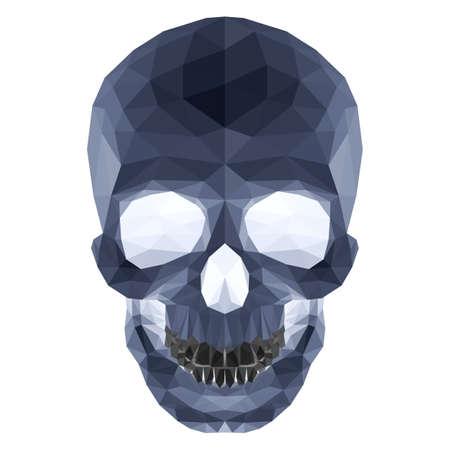 horrid: Illustration of dark crystal skull on white background