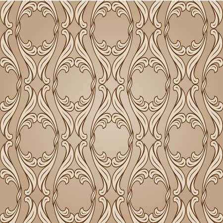 classic art: Floral background in light and dark brown colors