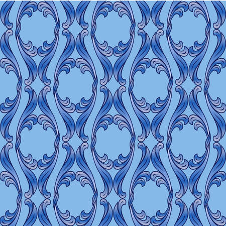 Abstract background with floral pattern blue colors Vector