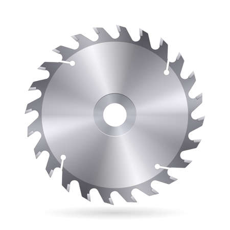 Metal blade  of circular saw on white background Stock Vector - 27438962