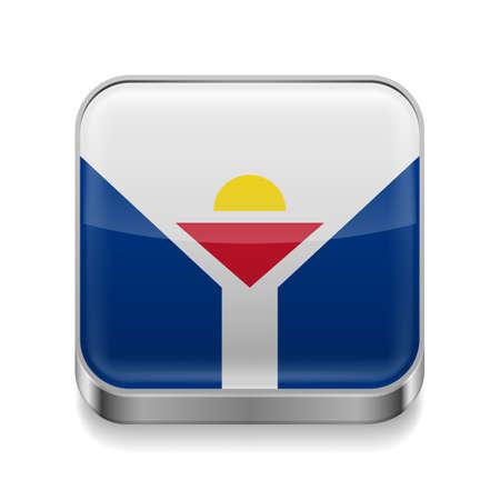 martin: Ikona metalu plac z kolorów flagi Saint Martin