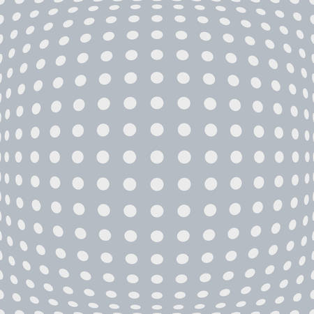 Abstract perforated background with bulgy effect in grey and white shades Illustration