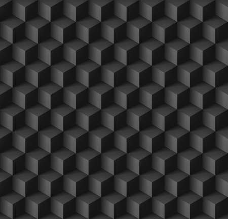 cubic: Abstract geometric background with cubes in black