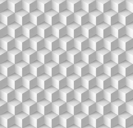 wall cell: Abstract geometric background with cubes in white