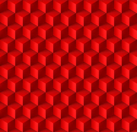 cubic: Abstract geometric background with cubes in red