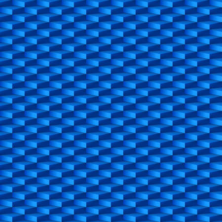 3d dimensional: Abstract geometric background with rhombus pattern in blue