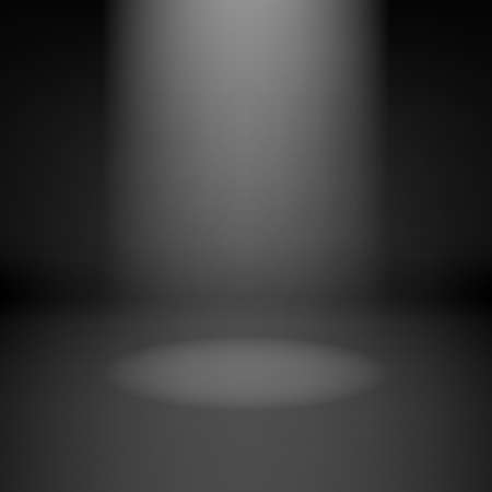Illustration of empty dark room with spotlight Vector