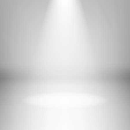 Illustratie van lege lichte kamer met hoogtepunt