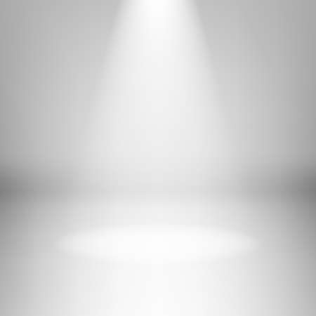 spotlight white background: Illustration of empty light room with highlight Illustration
