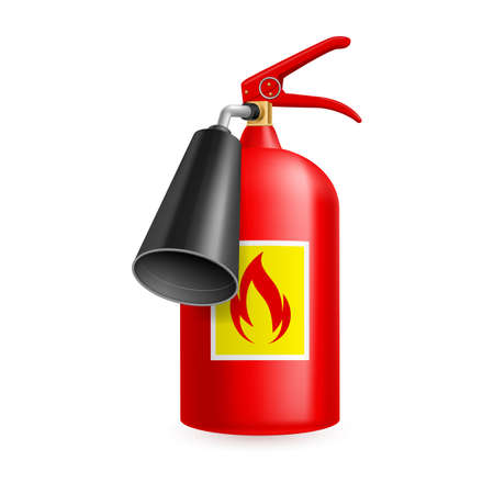 Fire extinguisher isolated on white background. Fire safety Vector