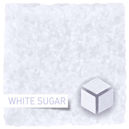sugar cube: White sugar background. Textured backdrop and sugar cube Illustration