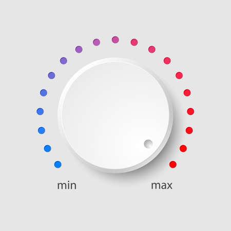 다채로운 다이얼 흰색 플라스틱 볼륨 조절
