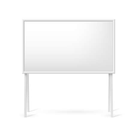 Blank white marker board for business presentations or teaching Vector