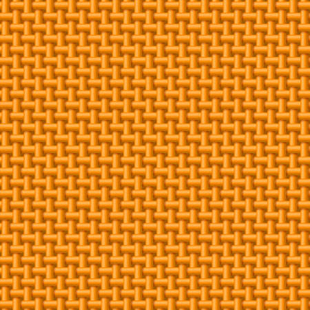 synthetic: Seamless pattern of orange cloth. Abstract fabric background Illustration