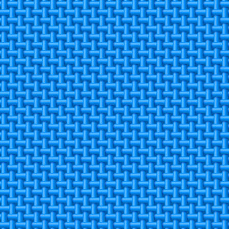 wickerwork: Seamless pattern of blue cloth. Abstract fabric background
