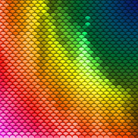 Abstract scales pattern in spectrum colors. Textured background Vector