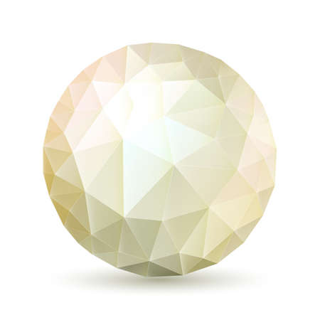 Abstract polygonal sphere in ght shades on white background Vector